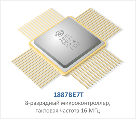 1887ВЕ7Т - 8-разрядный микронконтроллер